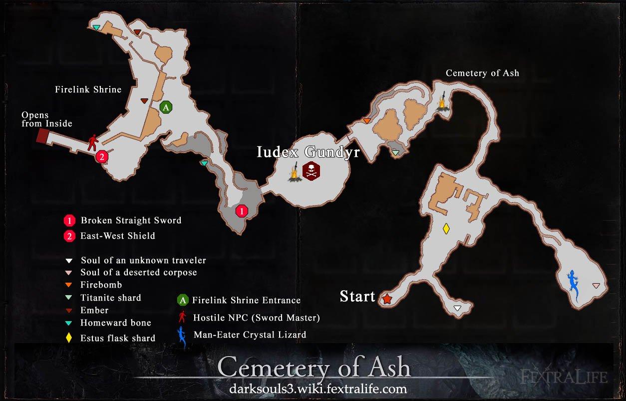 dark souls 3 karte Totenacker der Asche | Dark Souls 3   de Wiki